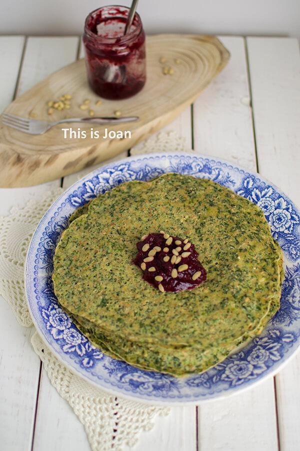 Gezonde Finse spinaziepannenkoeken recept