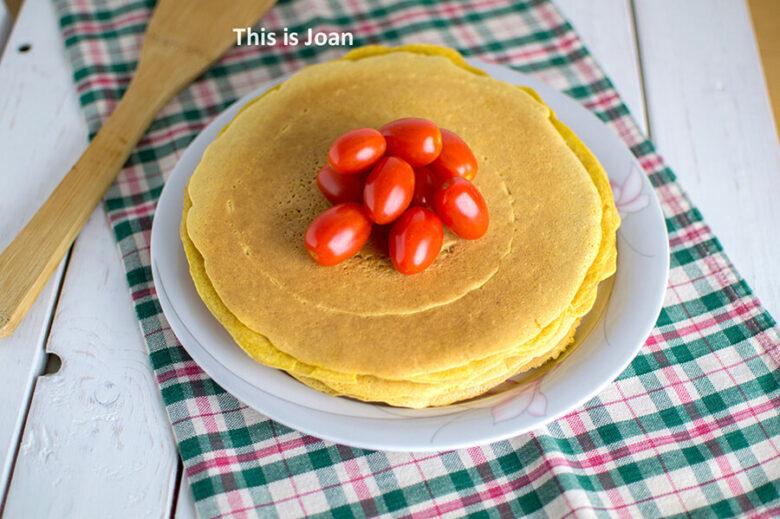 Vegan kikkererwten pannenkoek