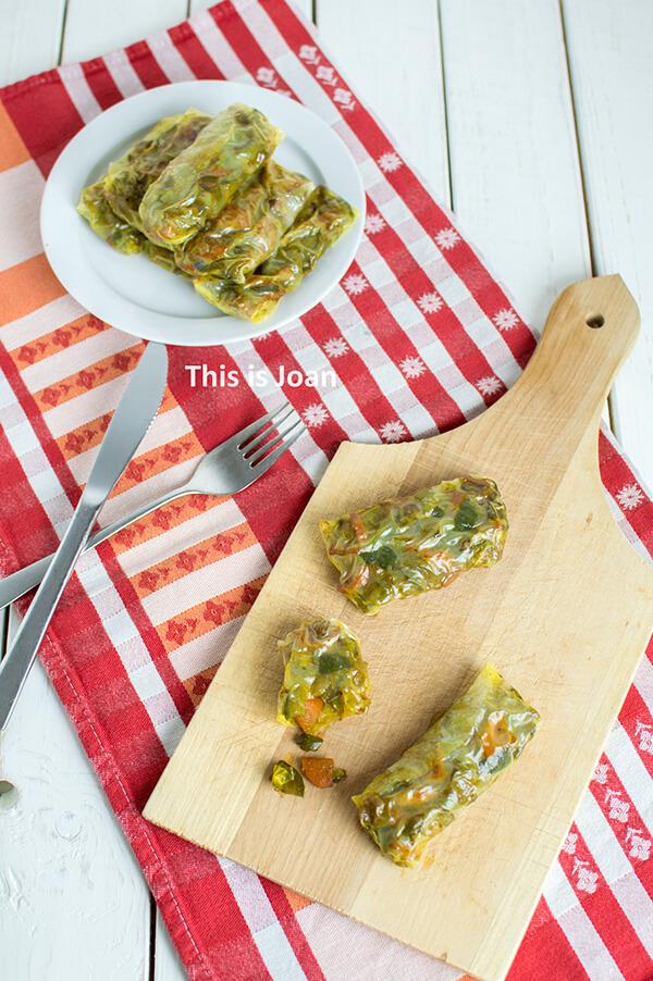 Vegan, gezonde loempia's uit de oven