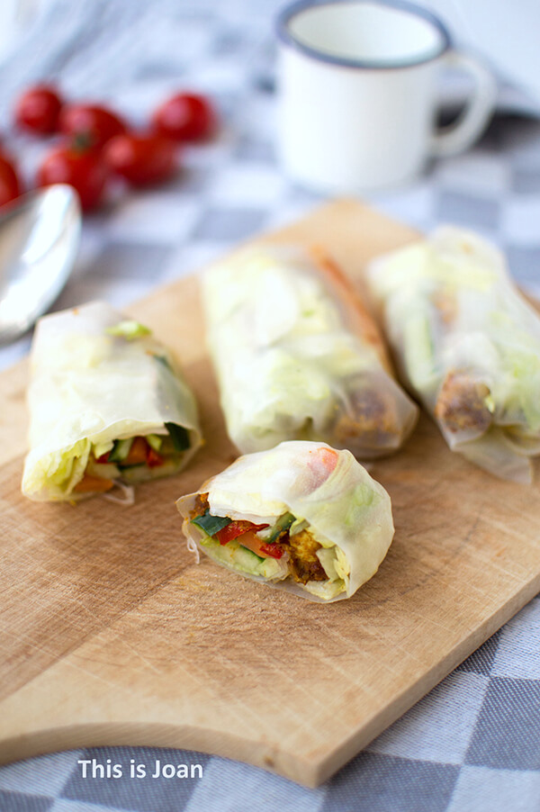 Vegan spring rolls met tofu