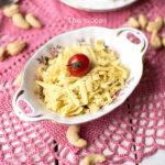 Vegan geraspte kaas van cashewnoten