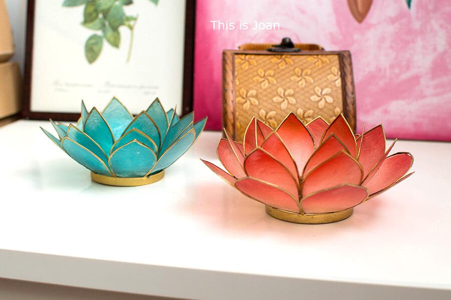 Waxinelichthouders lotus