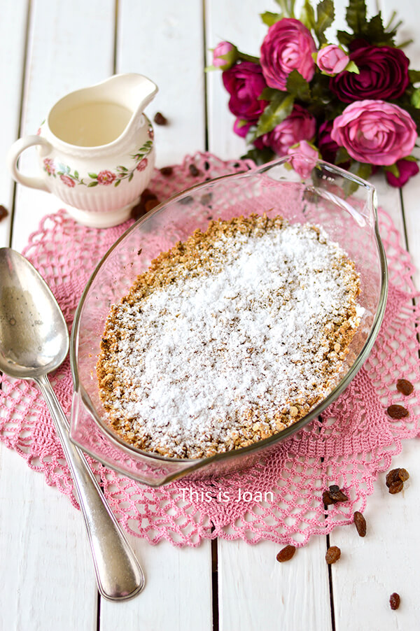 Vegan appel crumble recept