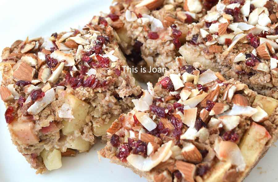 Cranberry gebakken havermout