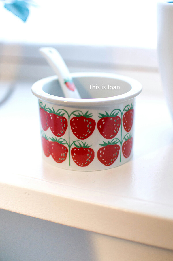 Arabia Finland aardbeienpot