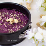 No bake vegan cheesecake met blauwe bessen