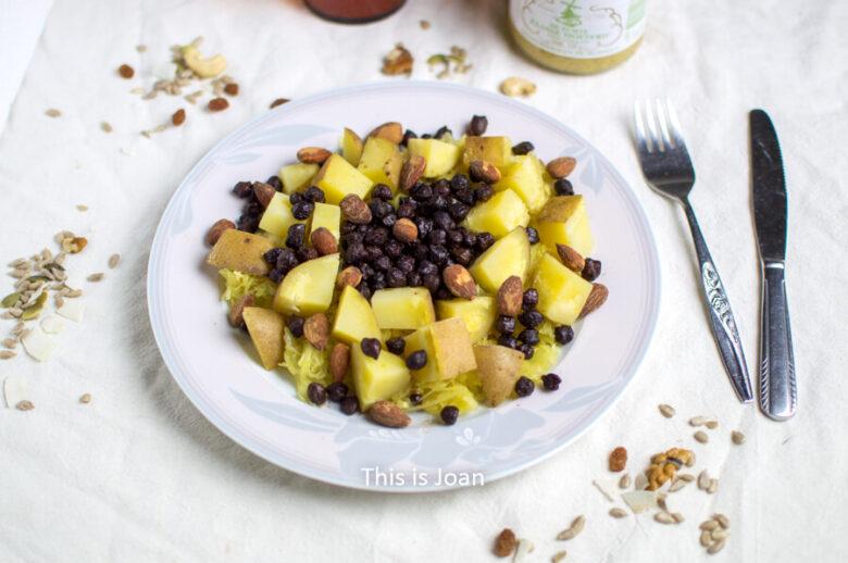 Elzasser zuurkool recept met zwarte kikkererwten