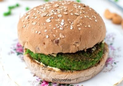 Vegan doperwtenburgers