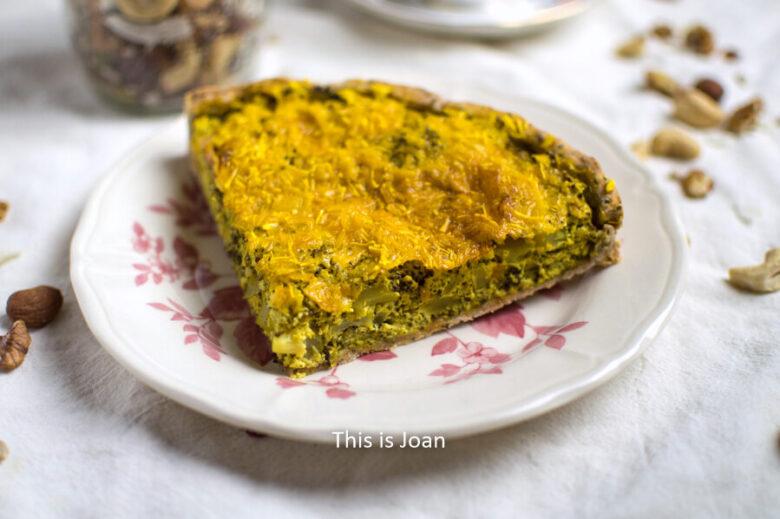 Vegan broccoli quiche